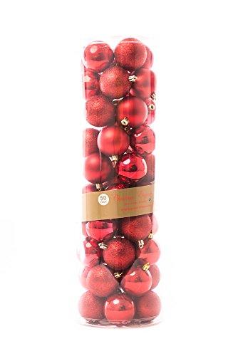 50ct Shatterproof Matte Shiny Clear Glitter Christmas Ball Ornaments 60mm 2
