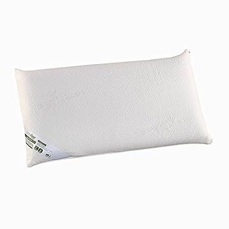 Blanco 70 cm Termoregulable Almohada Viscoel/ástica Estrella adaptabilidad para el Cuello DUPEN