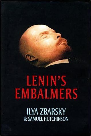 Amazon com: Lenin's Embalmers (9781860465154): Ilya Zbarsky