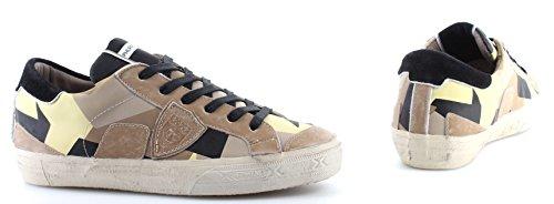 Philippe Model Scarpe Sneakers Uomo Paris Bercy Geometrique Sable Made in Italy
