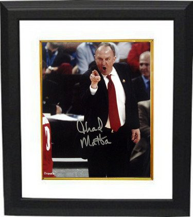 RDB Holdings & Consulting CTBL-BW17797 8 x 10 Thad Matta Signed Ohio State Buckeyes Coaching Photo Frame from RDB Holdings & Consulting