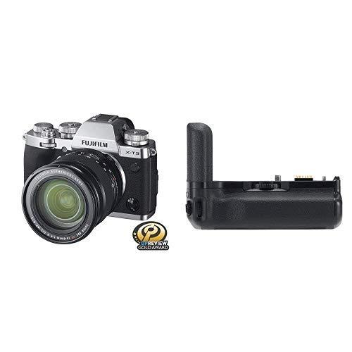 Fujifilm X-T3 Mirrorless Digital Camera w/XF16-80mm Lens Kit - Silver + Fujifilm VG-XT3 Vertical Grip