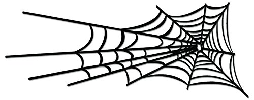 (Spider Web Vinyl Decal Sticker For Vehicle Car Truck Window Bumper Wall Decor - [12 inch/30 cm Wide] - Gloss BLACK)