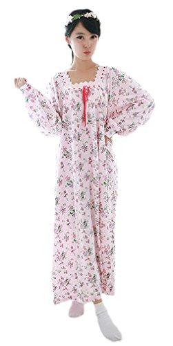 Soojun Womens Nightgown Victorian Sleepwear