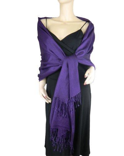 Pashmina / Silk Wrap Royal Purple