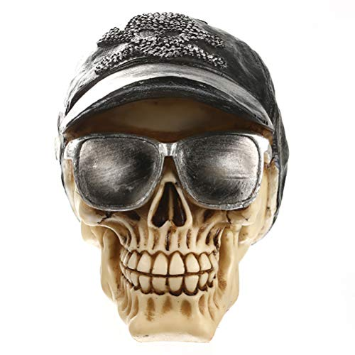 (Statues Home Decor Skull for Decoration Human Resin Skull Skeleton Abstract Sculptures Art Carving Statue)