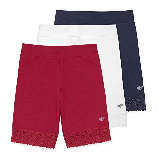 Lucky & Me (3 Pack Jada Girls Bike Shorts and Dance Shorts | Tagless | Super Soft Cotton with Lace Trim | Good Coverage