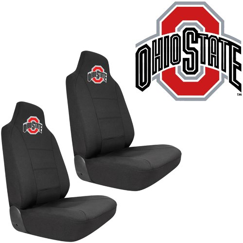 osu ohio state university buckeyes car truck suv universal fit bucket seat covers pair buy. Black Bedroom Furniture Sets. Home Design Ideas