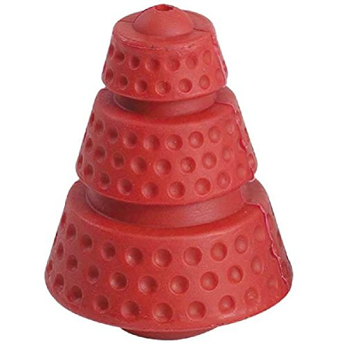 Hard Rubber Cosmic Cones (Hard Rubber Dog Toy-Small Cosmic Cone Rocket Red-Tough Toys For Dogs)