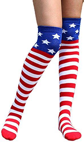 Women Flag Stars Stripes Knee product image