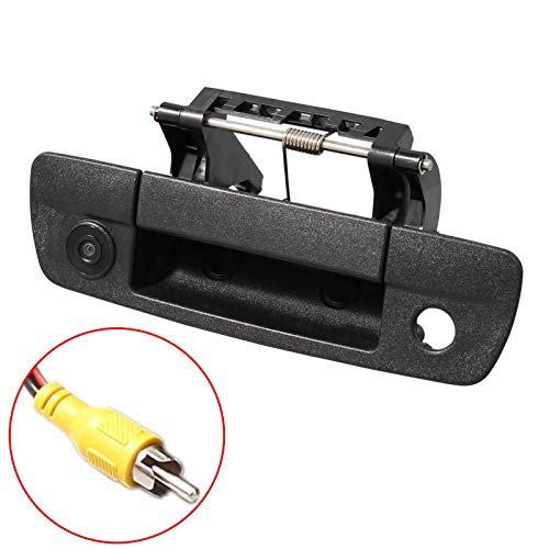 (Eway Tailgate Handle Backup Rear View Camera for Dodge Ram 1500 (2009-2015) | 2500 3500 (2010-2015) Reverse Waterproof Reversing Night Vision Color Backing Cameras Black(Removable Guideline))