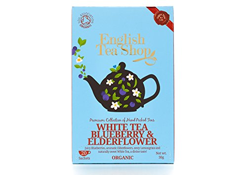 English Tea Shop Organic White Tea Blueberry & Elderflower Super Teas