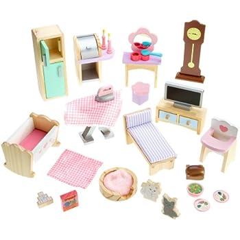 Amazon Com Kidkraft Doll House Furniture Set 28 Pieces Toys Amp Games