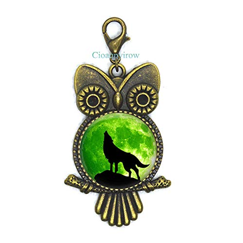 Cioaqpyirow Wolf Owl Zipper Pull,Wolf Jewelry,Wolves Gift for Women Handmade,Animal Jewelry Moon Jewelry Wolf Jewelry,HO0E287]()