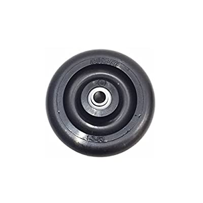 "Colson 3"" x 7/8"" Polyolefin Wheel with 5/16"" ID 125# Cap. Black"