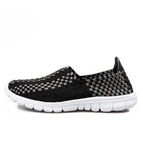 para Moda Tira Vamp Azul la Leisure On de los Splice EU de shoes la Modelo Zapatillas Color Sneaker Hombre Shufang 2018 de atléticos Negro tamaño Zapatos Slip Hombres 41 qtwzAaC