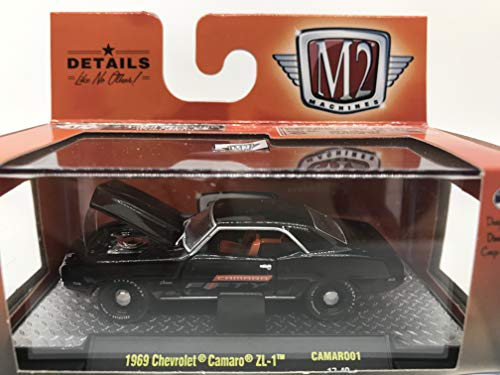 M2 Machines Camaro Fifty Premium Edition 1969 Chevrolet Camaro ZL-1 1:64 Scale CAMARO01 17-40 Black Details Like NO Other! Over 42 Parts 1 of 3000
