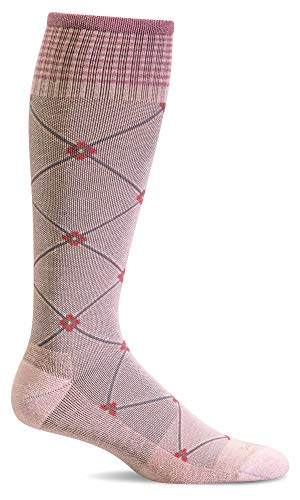 Sockwell Women's Elevation 20-30mmhg Compression Socks (Rose, ()