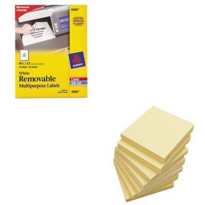 KITAVE6465UNV35668 - Value Kit - Avery Removable Inkjet/Laser ID Labels (AVE6465) and Universal Standard Self-Stick Notes (UNV35668)