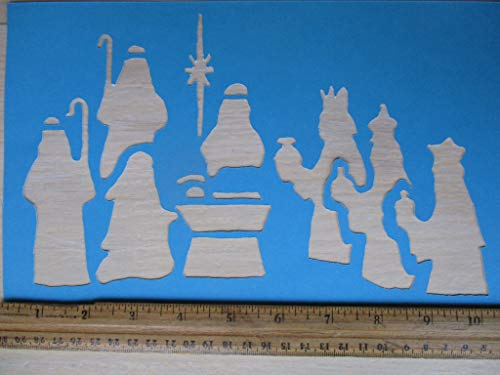 Vintage look NATIVITY Jesus Mary Joseph Wise Men Shepherds manger Star Bethlehem Christmas holiday cardstock STENCIL primitive antique look style YOU RECEIVE QTY 2