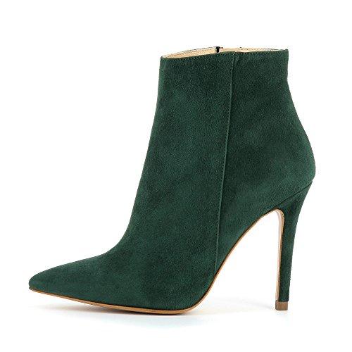 Alina Femme Daim Foncé Bottines Evita Shoes Vert AqtSxwB05B