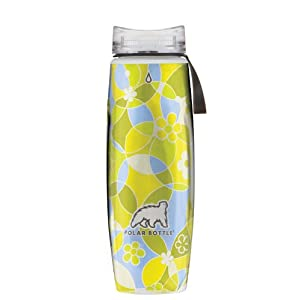 Polar Bottle Ergo Hot/Cold Insulated Water Bottle (22 oz) - Circles/Flowers