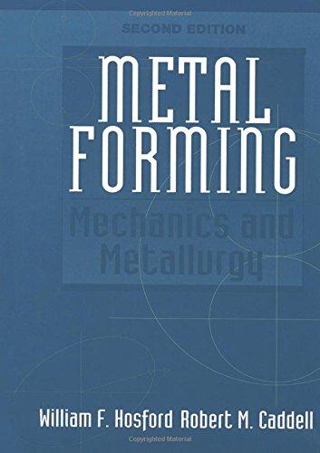 Metal Forming: Mechanics and Metallurgy (2nd Edition)