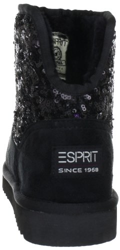 low priced a4d95 76459 ESPRIT Uma Sequins Bootie Ankle Boots Womens Black Schwarz ...