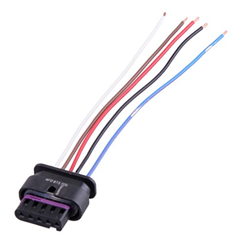 A4 Sensor Maf Audi (CITALL 5-pin mass air flow sensor MAF harness pigtail connector cable 4F0973705 Fit for VW AUDI)
