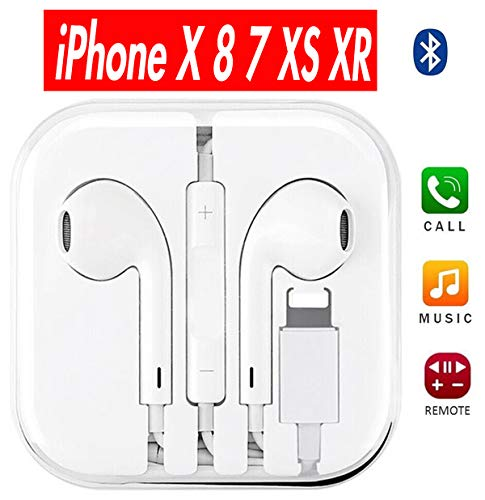 Earbuds, ONCON In-Ear Earbuds Headphones Best Earphones With Microphone Made Compatible For Apple iPhone XS Max XR X 8 7 Plus Bluetooth Connectivity