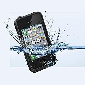 JJE The New Special Waterproof Shell for iPhone 4/4S(Assorted Colors) , Black
