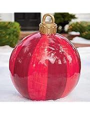 Kerstversiering, opblaasbare kerstbal, kerstbal van pvc, opblaasbare bal, kerstbal, gepersonaliseerd, boomversiering, 60 cm