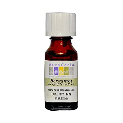 Essential Oil Bergamot-Bergaptene Free Aura Cacia 0.5 oz EssOil by Aura Cacia
