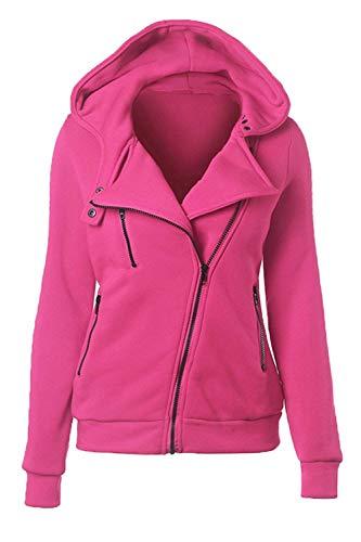 Pour De Solides couleur Sweatshirts Taille Femmes Rose Zhrui Sweatshirt Xx Size Printemps Les Plus Zipper Automne large Casual EPwqwC7x