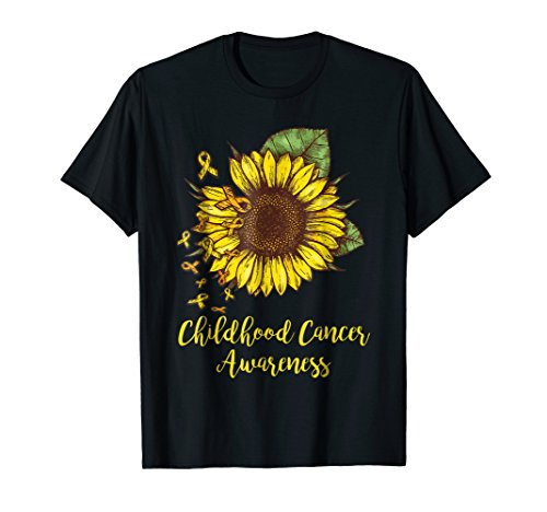Childhood Cancer Awareness Shirt-Childhood Cancer Sunflower