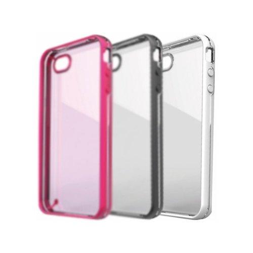 Ideus houseluxg Schutzhülle mit Design Deluxe mit Besatz für Apple iPhone 4und Apple iPhone 4S, Weiß