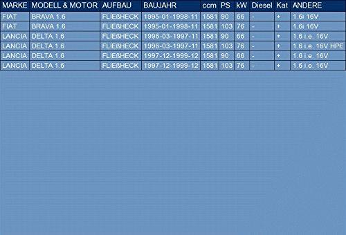 ETS-EXHAUST 50361 Ligne d/échappement Silencieux le kit dassemblage complet pour BRAVA 1.6 BERLINE 3//5 PORTES 1995-1998 // DELTA 1.6 BERLINE 3//5 PORTES 1996-1999