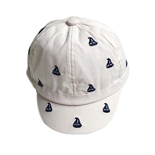 Old Style Baseball Cap - Iuhan Small Sailboat Printing Baby Girls Boys Baseball Caps Summer Hats Caps (Beige)