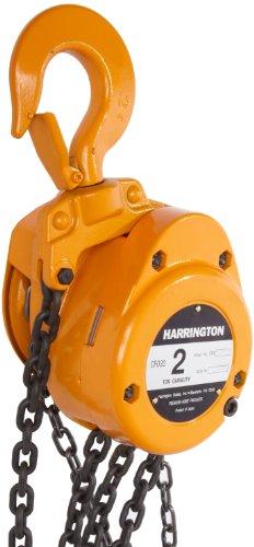 Harrington CF Hand Chain Hoist, Hook Mount, 2 Ton Capacity, 10' Lift, 20.1