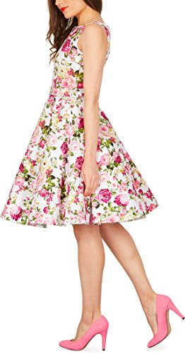 Flores Vestido Años Divinity BlackButterfly Vintage Rosas 'Audrey' Marfil 50 0Bn5Azqx