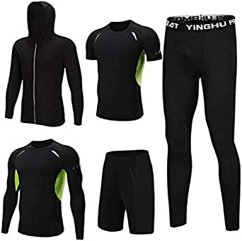 Tracksuit tracksuit tracksuit men's wear tight running workout spring/summer style tank top baggy five-piece back gym outfit track suit Sport Suit Sports Set