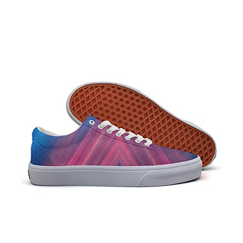 Colorful Grunge Backgrounds Photo Style Custom Brand Canvas Sneaker