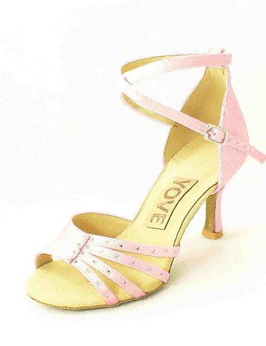 Fuksia Vaaleanpunainen Satiini Kantapää Valkoinen Salsa Musta Sininen Shangyi Tanssikengät Keltainen Punainen Muokattavissa Räätälöityjä Latinalaisen Naisten Keltainen Lila fnqZSPwAZ