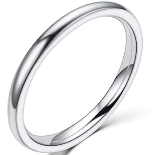 Jude Jewelers 1.5 MM Stainless Steel Stackable Ring Wedding Band (Silver, 6.5)