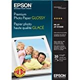 Epson Premium Photo Paper - Ledger/Tabloid - 11'' x 17'' - High Gloss - 92 Brightness - 1 Each - White, Blue - S041290