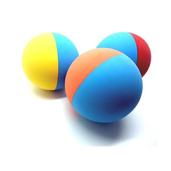 Snug Rubber Dog Balls - Tennis Ball Size - Tough, Durable, Virtually Indestructible - Extra Bouncy (3 Pack) 1