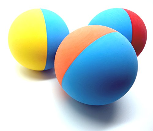 Ball Dog Toy Toys - Snug Rubber Dog Balls - Tennis Ball Size - Virtually Indestructible (3 Pack)