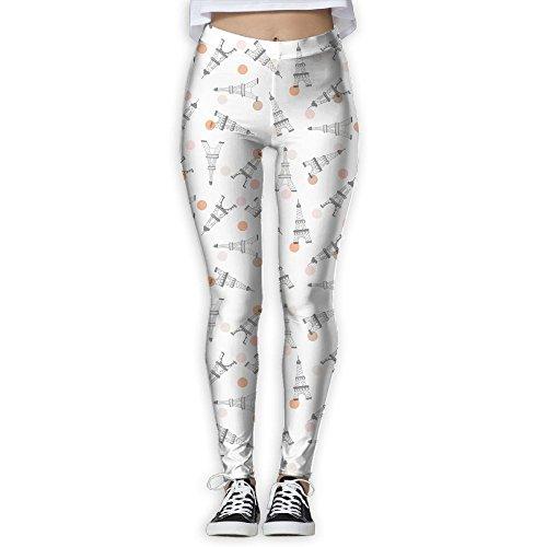 Doppyee New Eiffel Tower Printing Design Compression Leggings Pants Tights For Women S-XL