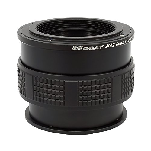 KECAY 42MM-M43 Lens Mount Adapter for M42 42mm Screw Lens to Micro 4/3 Four Thirds M43 MFT System Cameras with Macro Focusing Helicoid, M42 to M43