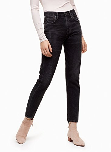 Rise Of Citizens High Humanity (Premium Vintage Liya - High Rise Classic Fit Crop in Dark Tempest Destroyed (Black) (29))